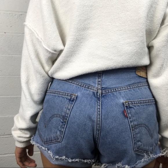 c1e6759e Levi's Shorts | Vintage Levis 550 High Waisted Distressed Short ...